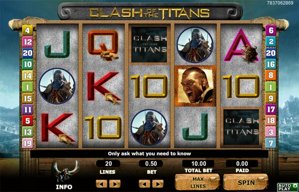 clash of titans slot